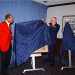 Unveiling Mickey Harris Painting